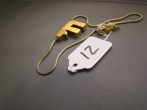 12: GOLD OVER STERLING CHAI NECKLACE