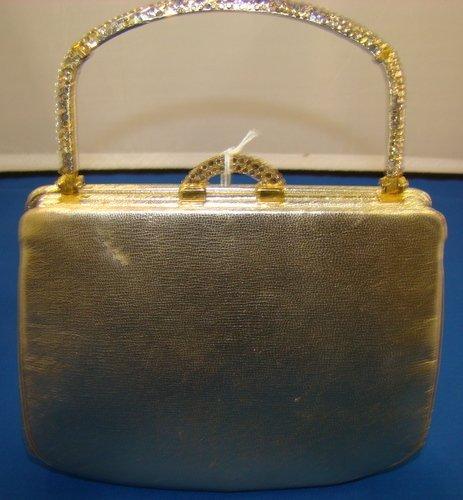8: JUDITH LEIBER GOLD RHINESTONE PURSE