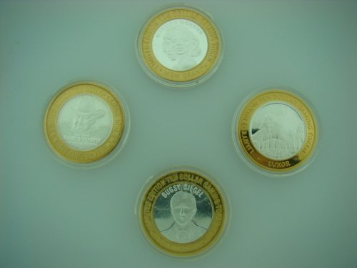 14: FOUR 1oz SILVER CASINO CHIPS