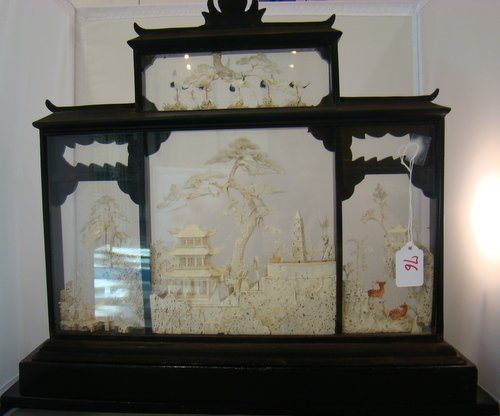 76: 19TH CENTURY CARVED IVORY VILLAGE