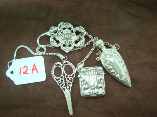 12A: STERLING VINTAGE CHATELAINE