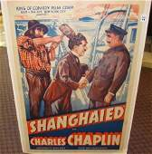 75:CHARLES CHAPLIN EARLY SILENT MOVIE POSTER