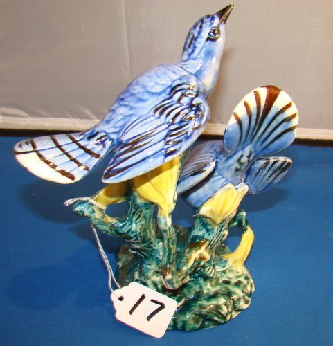 17: LARGE STANGL POTTERY BLUE BIRD GROUPING