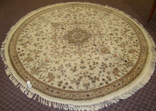 1: 1960'S HAND MADE ROUND PERSIAN TABRIZ