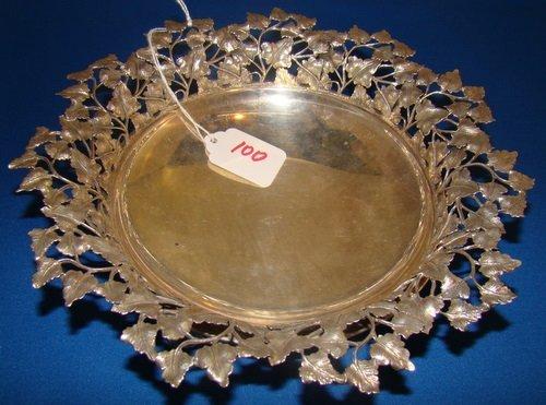 100: VINTAGE SIGNED BUCCELLATI SILVER OPEN WORK BOWL
