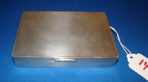 14: VINTAGE ENGLISH STERLING SILVER LIDDED BOX