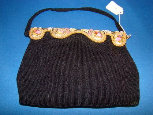 7: VINTAGE FRENCH BEADED PURSE BY DELLIL
