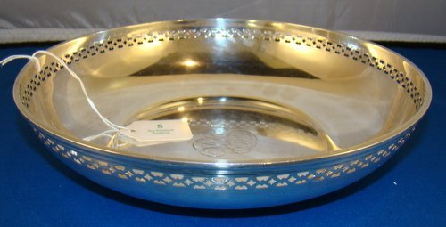5: LARGE STERLING RETICULATED BOWL