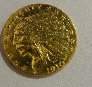 24: 1927 U.S $2.50 INDIAN GOLD PIECE FINE CONDITION
