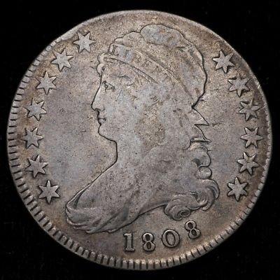 14: 1808 BUST HALF DOLLAR VERY FAIR