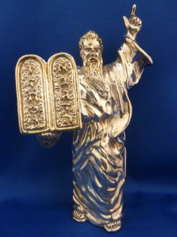 302: LARGE STERLING FIGURINE OF MOSES