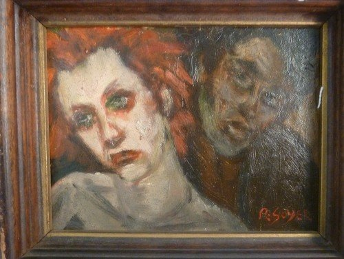 15: OIL ON BOARD R SOYER SIGNED LOWER RIGHT