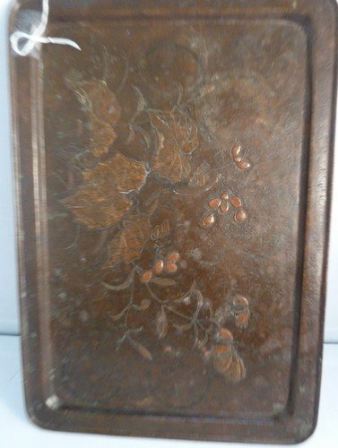 17: ARTS & CRAFTS HAND HAMMERED COPPER TRAY