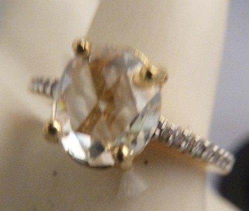 23: 18KT DIAMOND ENGAGEMENT RING