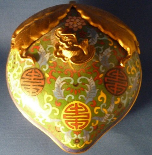 2: CLOISONNE COVERED BOWL