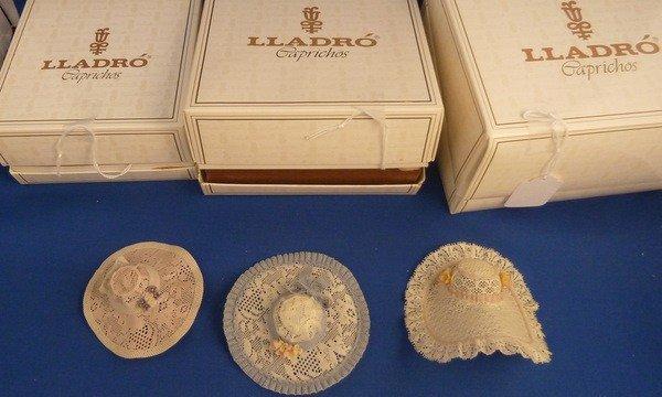 20: LLADRO THREE  RARE CAPRICICHOS HATS