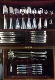 "100:EXQUISITE TUTTLE ""LAMERIE"" STERLING FLATWARE"