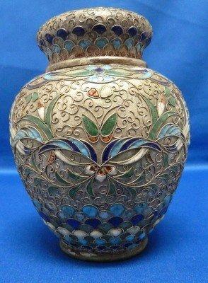 301: VINTAGE CLOISONNE COVERED JAR