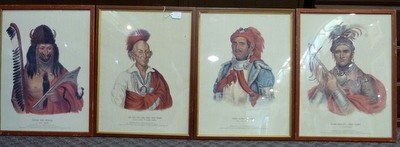 316: SET OF FOUR  LITHOS OF AMERICAN INDIANS