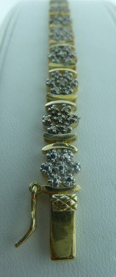 21: VERMEIL AND DIAMOND BRACELET