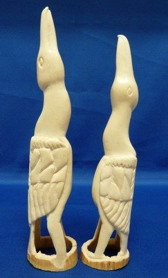 20: PAIR OF VINTAGE IVORY CARVED BIRDS