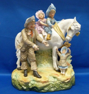 7: EARLY FRENCH BISQUE FIGURINE GROUPING