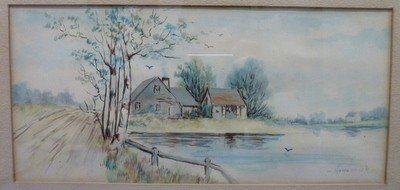 15: WATERCOLOR SIGNED HOUSINICH
