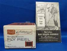 35: TED WILLIAMS SEARS FISHING REEL MINT IN BOX & GUIDE