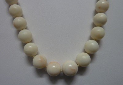 302: ANGEL SKIN CORAL BEAD NECKLACE