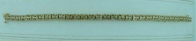 321: LADIES 3.5 CARAT DIAMOND & GOLD TENNIS BRACELET