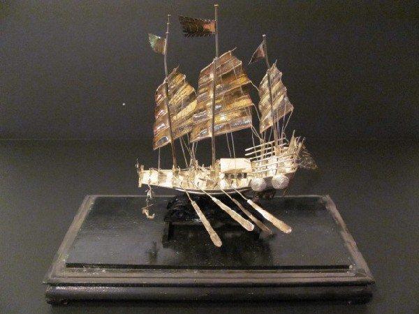 6: Semi antique sterling silver boat