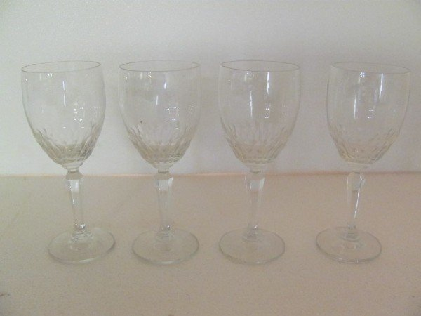 12: Lot of 4 Crystal Wine Glass