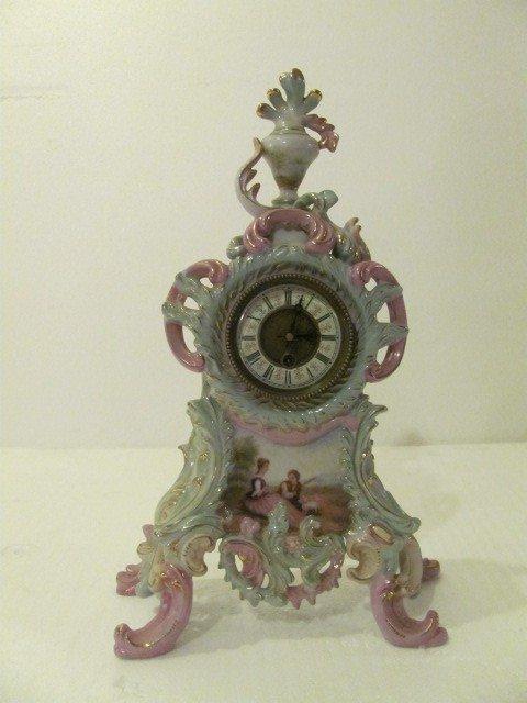 15: Hand Painted Porcelain Clock