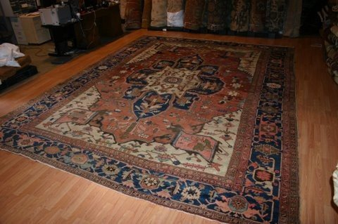 33: Antique Persian Serapi Rug