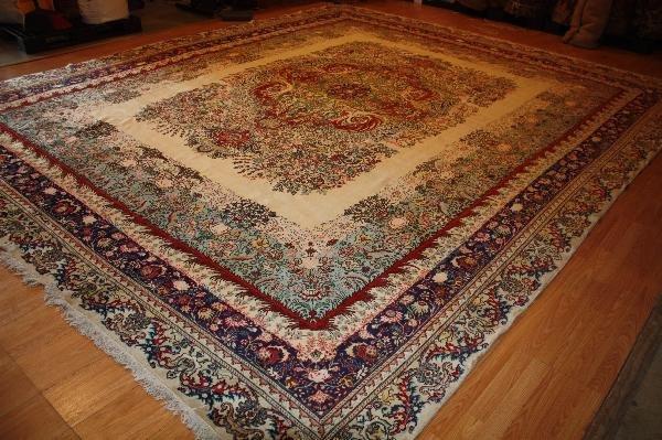 120: Persian Tabriz Hand Woven Rug