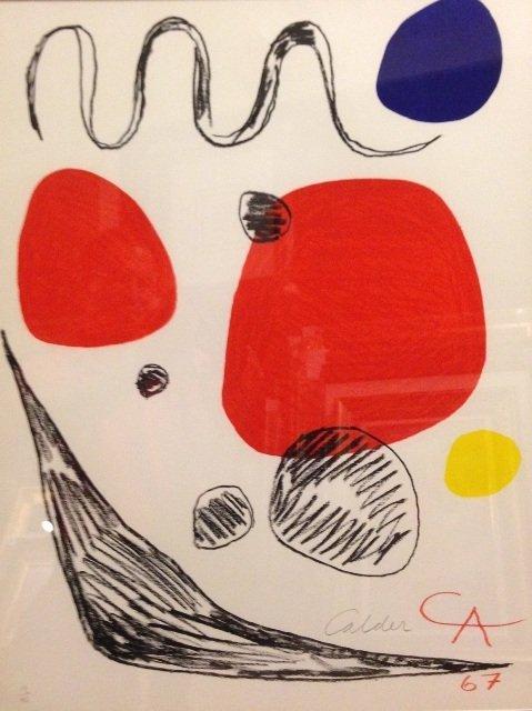 Alexander Calder (American 1898-1976), Affiche d'Rigard