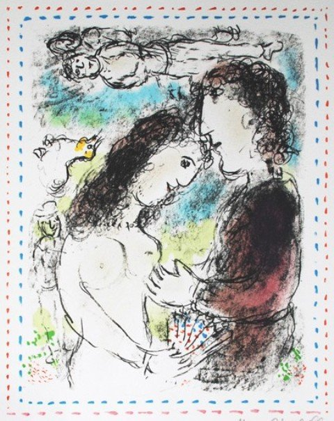 Marc Chagall (1887-1985), At the Dawn of Love