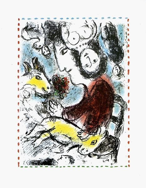 Marc Chagall (1887-1985), Artist with a Goat