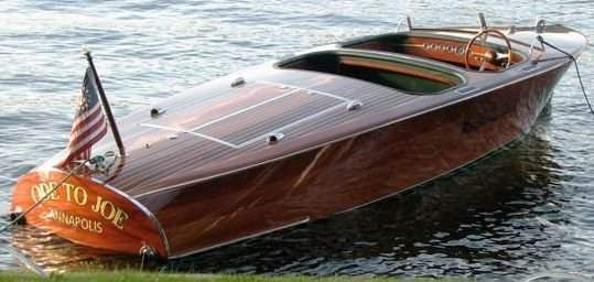 20: 19 Feet Chris Craft Barrel Back Replica