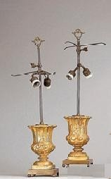 18: Pair of  D. Maria giltwood carvings