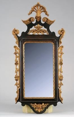 23: Walnut and giltwood D. José style wall mirror