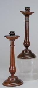 24: Pair of  rosewood candelsticks