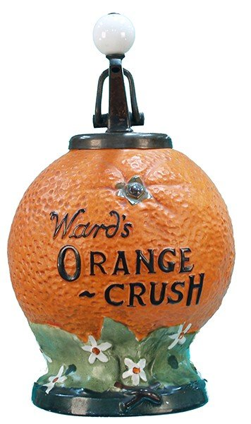2: Ward's Orange Crush Countertop Syrup Dispenser,