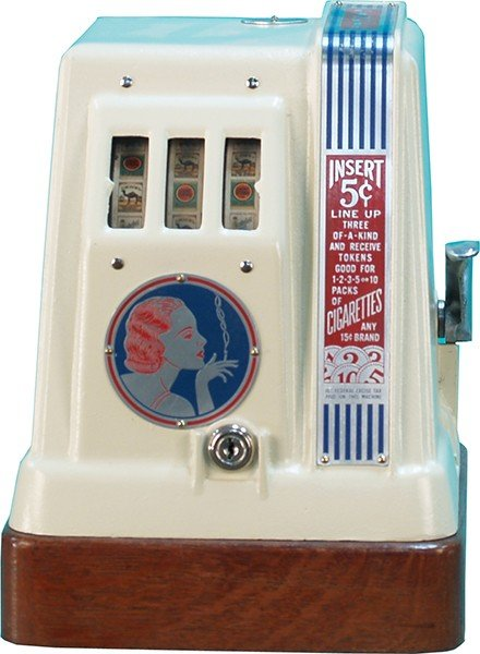 5: 5 Cent Ginger Cigarette 3-Reel Trade Stimulator,