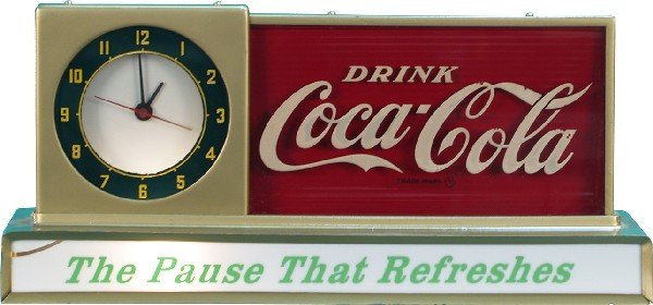 14: Electric Countertop Drink Coca Cola Light-Up Displa
