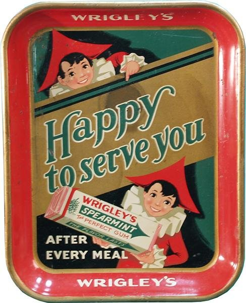 15: Wrigley's Spearmint Gum Tin Serving Tray