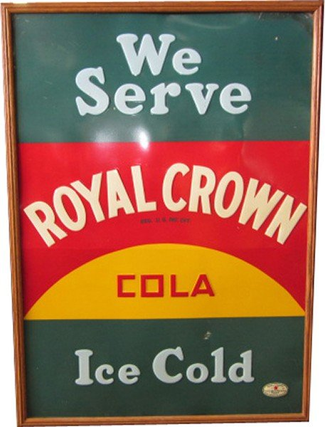 16: Royal Crown Cola Embossed Tin Sign,