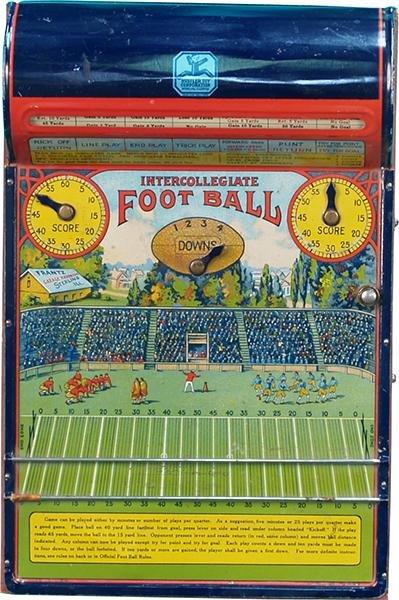 252: Intercollegiate Football Countertop Metal & Wood F