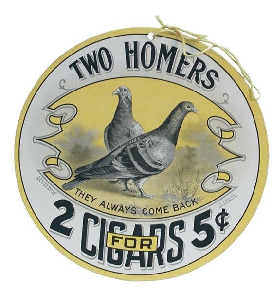 253: Lot Of 2 Cigar Double Sided Cardboard Signs: