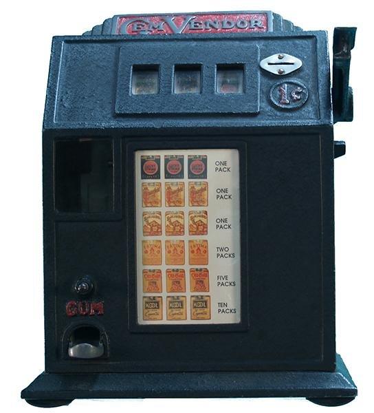 "255: 1 Cent Countertop ""Gem Vendor"" Cigarette 3-Reel Gu"